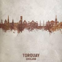 Torquay England Skyline Art Prints & Posters by Michael Tompsett