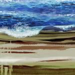 Wave On The Beach Landscape Decor Prints & Posters