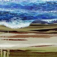 Wave On The Beach Landscape Decor Art Prints & Posters by Irina Sztukowski