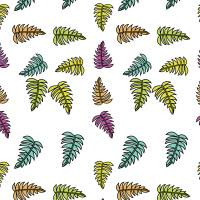 Tropical Colorful Palm Fronds Pattern Art Prints & Posters by Valerie Waters