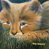 Baby Cheetah Art Prints & Posters by Rick Schimpf