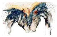 Wild Horses Watercolor Painting