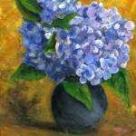 """Hydrangea Still Life, Impressionist Art"" by Lenora"
