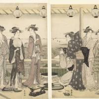 Zomer tafereel, Toyokuni (II), Utagawa, 1785 - 179 Art Prints & Posters by Emin Yavuz