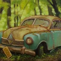 Rusty car_16X20 Art Prints & Posters by Yue Zeng