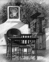 The Garden Kitchen Sketched by Kirt Tisdale