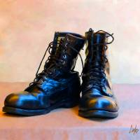 These Boots Art Prints & Posters by Tom Carlos
