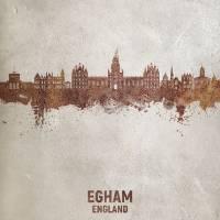 Egham England Skyline Art Prints & Posters by Michael Tompsett
