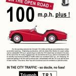 TR3 100 mph plus Prints & Posters