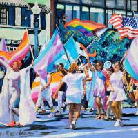 Lavender Resilient 2021 LGBTQ Pride March Art Prints & Posters by RD Riccoboni