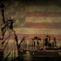 Statue of Liberty, NY City Skyline Art Prints & Posters by miscstudios