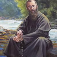 """""""Saint Maximilian Kolbe Praying the Rosary"""" by ChrisPelicano"""