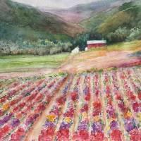 """""""Flower Fields"""" by KayKalarFineArt"""