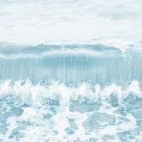 Calm Sea Wave Breaking by Natalie Kinnear Art Prints & Posters by Natalie Kinnear