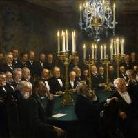 A meeting in the Royal Danish Academy of Sciences Art Prints & Posters by Janice M