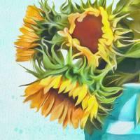 Sunflower Joy Art Prints & Posters by Tammy Lee Bradley