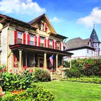 Belvidere NJ - Victorian House and Garden Art Prints & Posters by Susan Savad