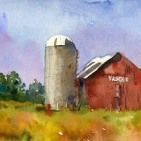 Landscape Painting | Max Yasgurs Farm | woodstock Art Prints & Posters by Miriam Schulman