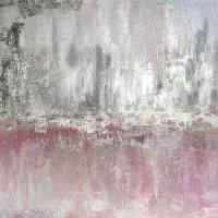 Silver Leaf Pink Silver Abstract Art Prints & Posters by Irena Orlov