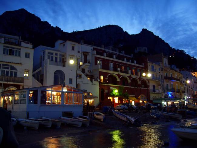 Nightfall on Capri