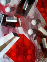 white runaway dots,oil,mm on canvas,76x100cm,2006