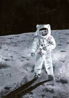 Ap11 - Here we are on the Moon.