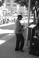 Saxophonist in San Francisco