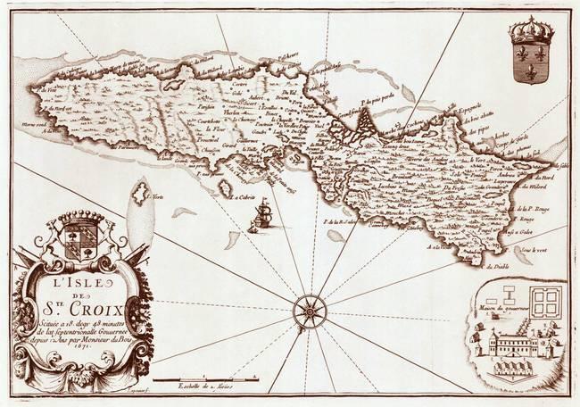 1671 St. Croix map by ArtistiquePrints .com