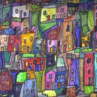 Painted Houses Art Prints & Posters by Maeve Wright
