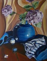 Vase of Hydrangeas: Polish Pottery XXVI