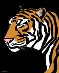 Tiger Portrait by Pixel Paint Studio