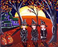 Three Witches with Haunted House