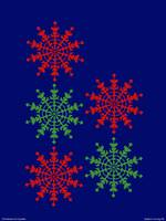 Happy Christmas - Ice Crystals - Snow Flakes