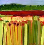 Skagit Fields in Red No 2 by Jennifer Lommers