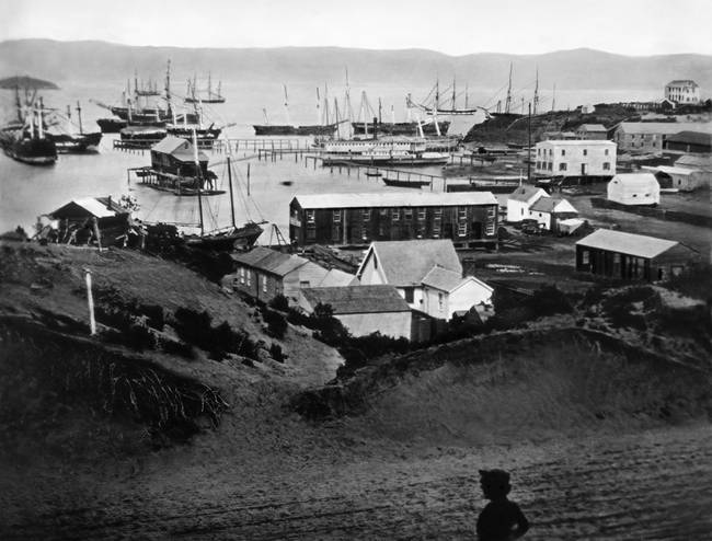 Rincon Point from Rincon Hill, 1851 San Francisco