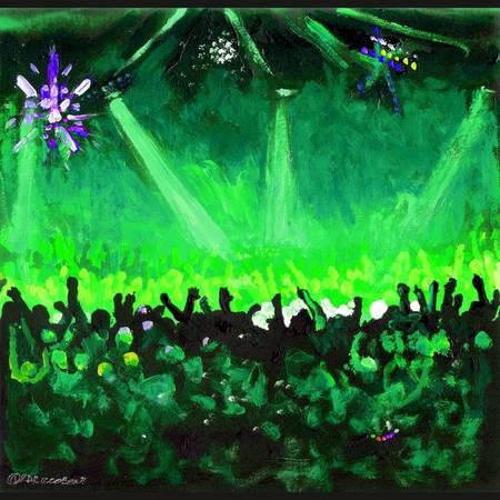 Disco Ball Dance-Green by RD Riccoboni