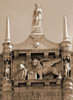 The Lion of Venice Between Spires