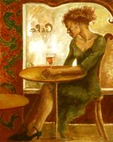 Woman in a Paris Cafe