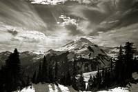 Mount Baker after winter storm