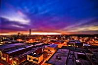 Dusk falls on Miniature Greensboro