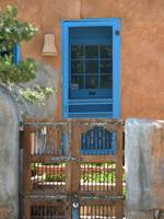 Turquoise Door~Canyon Road~Santa Fe, New Mexcio