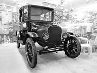 Model-T Workshop in Black & White