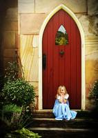 Girl At The Red Door