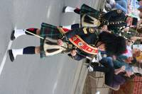 Bagpiper in parade