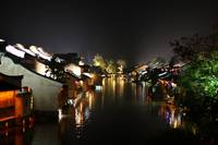 Wuzhen Water Village at Night