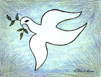 Peace Dove by Tina Hopkins