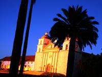 santa barbara mission sunrise