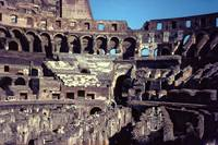 Inside the Coliseum, Rome by Priscilla Turner