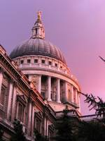 St Pauls Cathedral in the evening glow, London, Gr