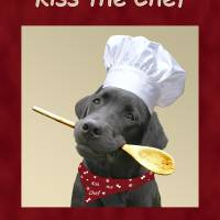 Kiss the Chef Black Labrador Retriever Art Prints & Posters by Amy Reges